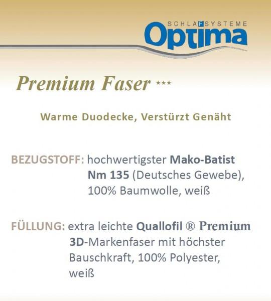 Faserdecke - Optima Premium ***- warme Winterdecke