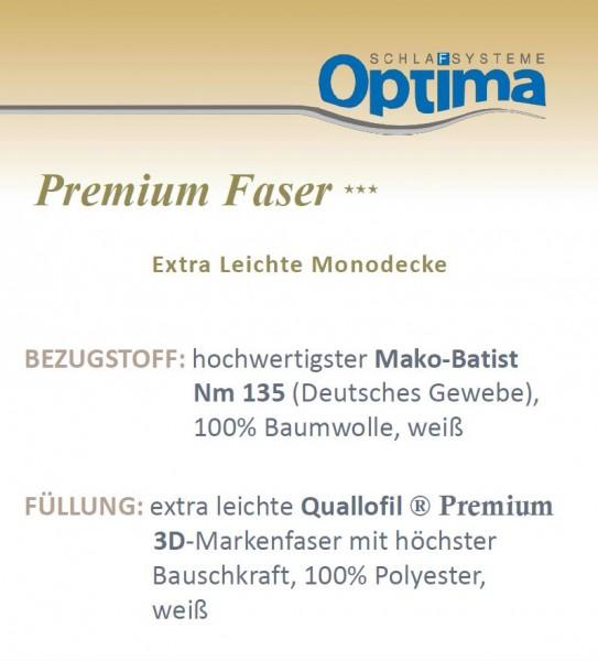 Faserdecke - Optima Premium ***- leichte Sommerdecke-