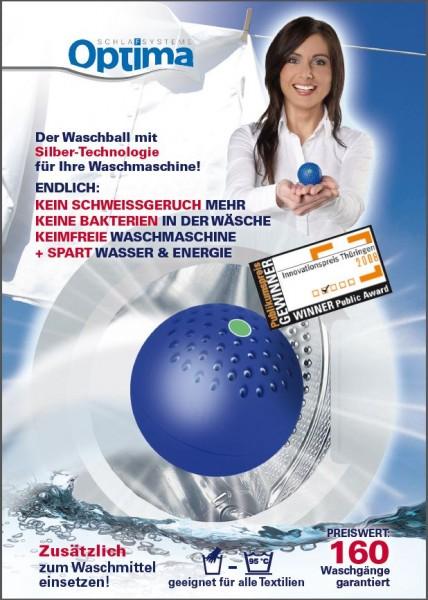 Waschball mit Silber-Technologie - antibakterieller Waschzusatz